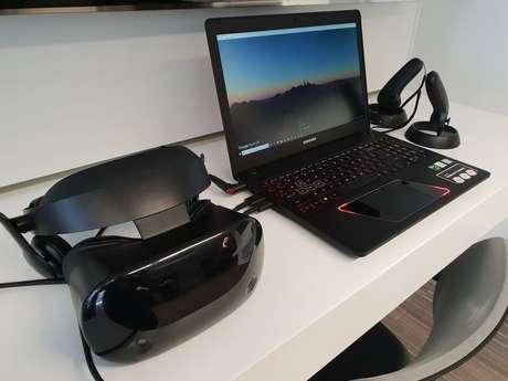 Nova configuração do Odyssey permite o HMD, óculos VR da Samsung (Foto: André Fogaça/Canaltech)