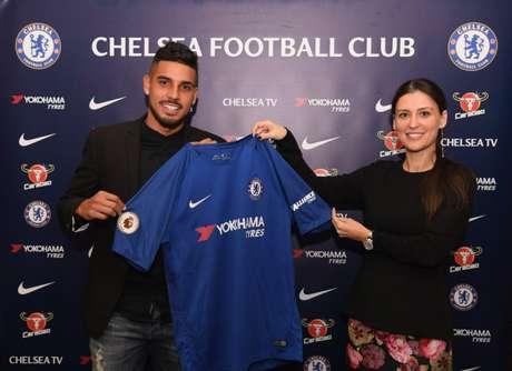 Palmieri chegou no fim do janeiro ao Chelsea e disputou dois jogos pelo clube (Foto: Divulgação)