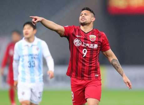 Elkeson fez o gol da vitória do Shanghai SIPG (Foto: AFP)