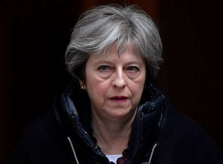 Primeira-ministra britânica, Theresa May, em Londres 14/03/2018 REUTERS/Toby Melville