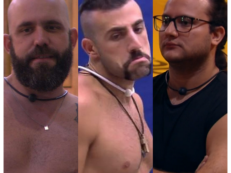 """Após eliminação de Patrícia no """"BBB18"""", Caruso, Diego e Kaysar reforçam aliança"""