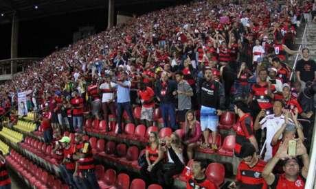 Torcida do Flamengo sempre comparece em bom número no Kleber Andrade (Foto: Gilvan de Souza/Flamengo)