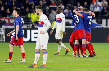 Lyon vacila em casa e está eliminado da Liga Europa