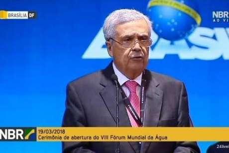 Presidente do Conselho Mundial da Água, Benedito Braga, discursa na abertura do 8º Fórum Mundial da Água