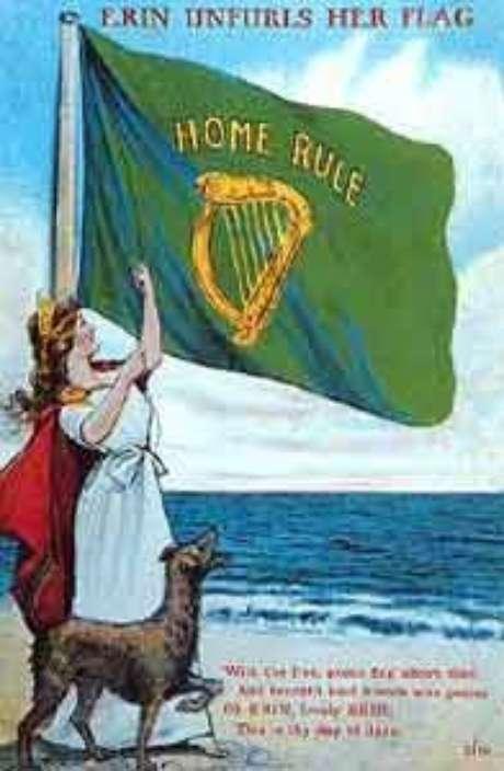 Cartaz irlandês a favor da independência