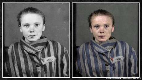 A polonesa Czesława Kwoka: imagem é ainda mais impactante quando vista colorida