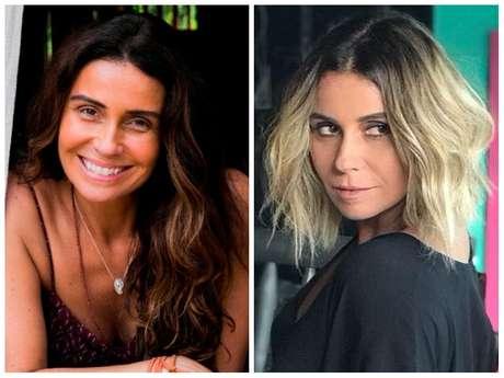 Antes e depois da Giovanna Antonelli (Fotos: João Miguel Júnior/TV Globo/Divulgação - @eufernandotorquatto/Instagram/Reprodução)