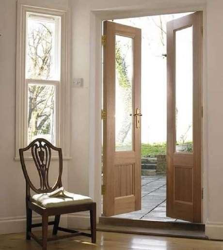 Interior Bathroom Double Doors: Modelos De Portas: +53 Modelos Para Inspirar O Seu Projeto