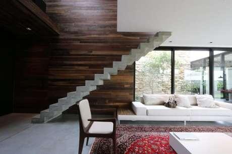 Resultado de imagem para Escada reta com degrau plissado