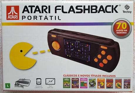 Embalagem brasileira do Atari Flashback Portátil