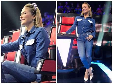 "Claudia Leitte no ""The Voice Kids"" (Fotos: @claudialeitte/@yanacioli/Instagram/Reprodução)"