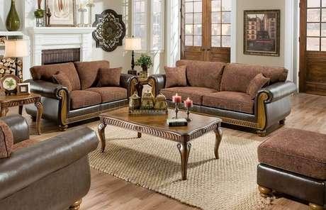 29. Também há a possibilidade de usar almofadas e sofá nas mesmas cores