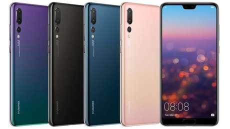 Os recém-anunciados P20 e P20 Pro chegarão em pelo menos cinco cores diferentes. Smartphones serão vendidos no segundo trimestre (Imagem: Huawei)