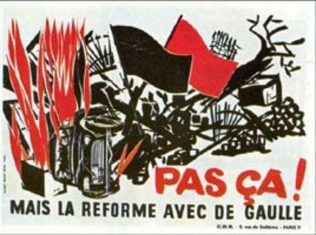 Cartaz anti-gaulista (maio de 1968)