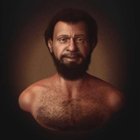 Concepção artística do designer gráfico especialista em reconstituição facial forense Cícero Moraes mosta que judeus que viviam no Oriente Médio no século 1 tinham a pele, o cabelo e os olhos escuros