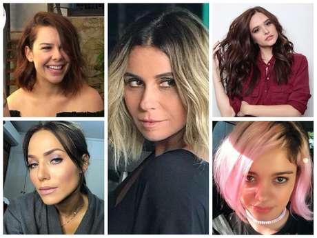 Mudança de visual das atrizes (Fotos: Instagram/Reprodução - Divulgação)