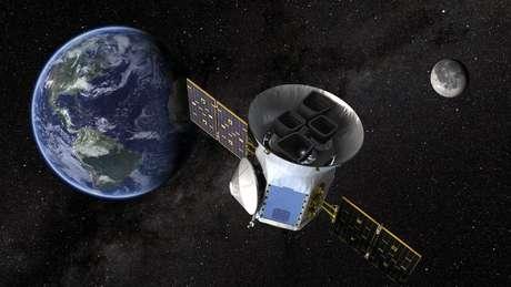 Ilustração divulgada pela Nasa mostra satélite Tess Divulgação via REUTERS