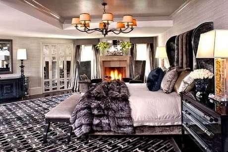 41. Decoração de quarto em casas luxuosas