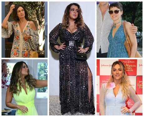 Famosas apostam em vestidos longo (Fotos: AgNews/Reprodução/Instagram)