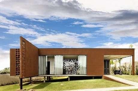 50 modelos de frente de casas para inspirar o seu projeto for Casa moderna design