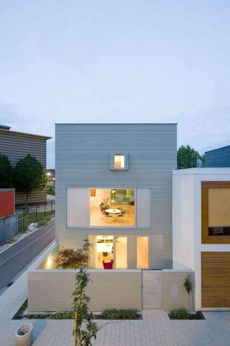 50 modelos de frente de casas para inspirar o seu projeto for Casa moderna under 35