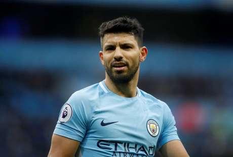 Aguero em jogo do Manchester City contra o Chelsea  4/3/2018   Action Images via Reuters/Carl Recine