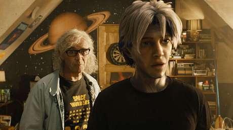 Halliday com Parzival, o avatar do protagonista Wade
