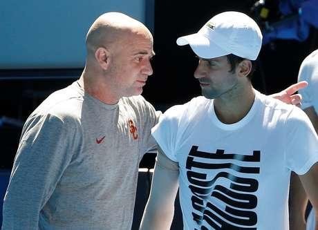 Andre Agassi e Novak Djokovic