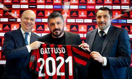Milan anuncia a renovação de contrato de Gattuso até 2021