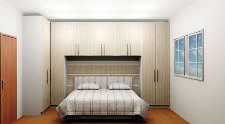 6. Modelo de armário com cama embutida para quarto de casal