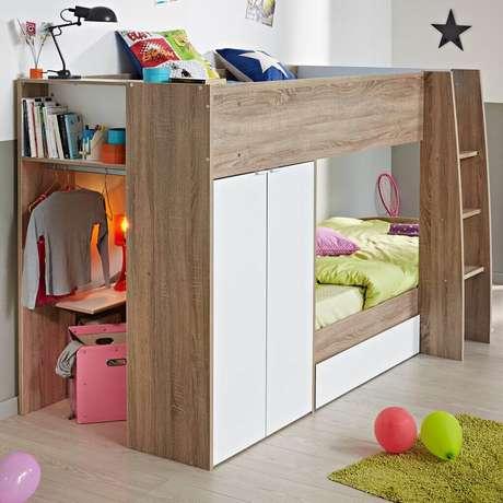 9. Modelo de beliche com armário embutido
