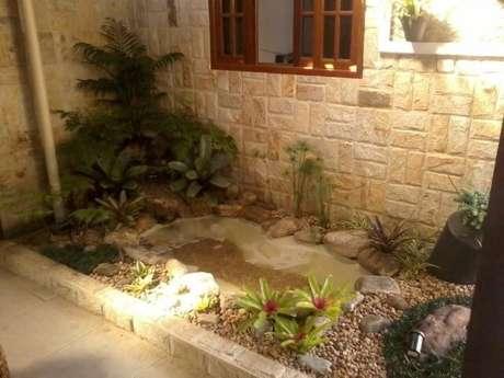 43. Jardim de inverno com fonte. Projeto de Atelier de Paisagem
