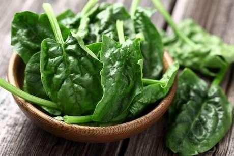 Espinafre: verdura rica em ferro