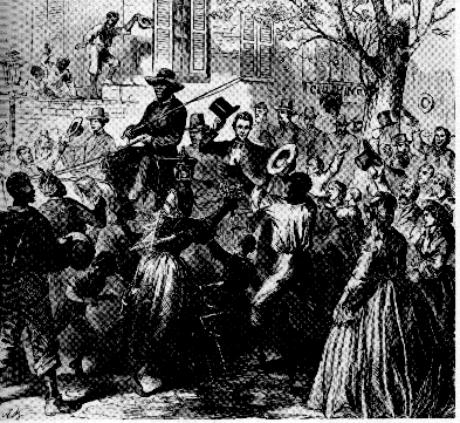 Lincoln aclamado por multidão abolicionista