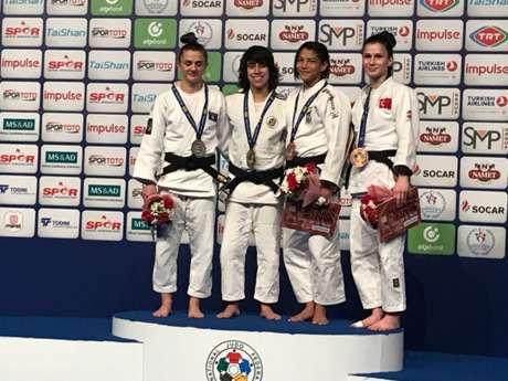 Judoca Sarah Menezes ganha medalha de bronze no GP Turquia