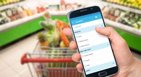 2. Se preferir, você pode também fazer sua lista de compras no celular