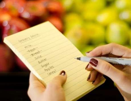 1. Fique mestre em fazer lista de compras!