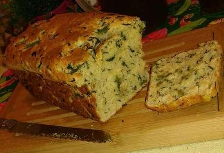 Pão de espinafre caseiro