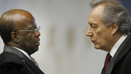 Joaquim Barbosa e Ricardo Lewandowski protagonizaram discussões durante julgamento do mensalão