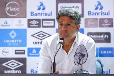 Renato Gaúcho afirmou que vai ficar no Grêmio e acabou com as esperanças do Flamengo (FOTO: LUCAS UEBEL/GREMIO FBPA)