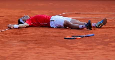 David Ferrer comemora vitória da Espanha