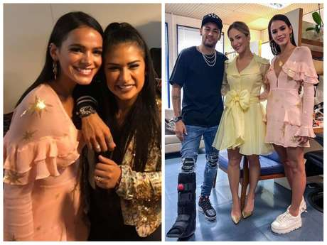 "Bruna Marquezine e Neymar Jr. no ""The Voice Kids"" (Fotos: @simoneses/@claudialeitte/Instagram/Reprodução)"