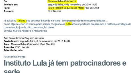 Paulo Baqueiro de Melo terá que falar sobre mensagens supostamente relacionadas à compra do terreno para o Instituto Lula; para procuradores, 'Italiano' é o codinome de Antonio Palocci - que na época era deputado federal pelo PT