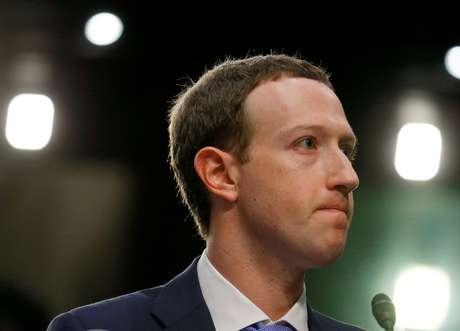 Presidente-executivo do Facebook, Mark Zuckerberg, durante audiência no Capitólio, em Washington 10/04/2018 REUTERS/Leah Millis