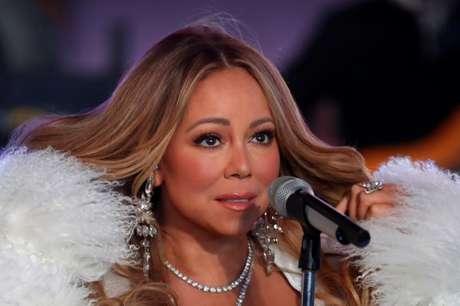Mariah Carey durante show de Ano Novo em Nova York