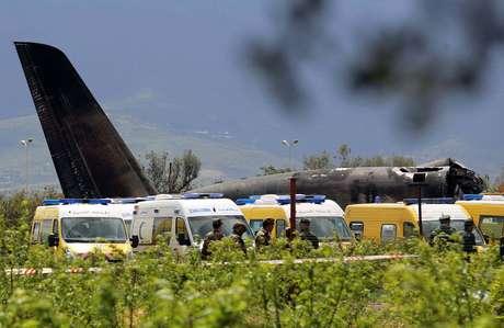 Avião militar que caiu na Argélia