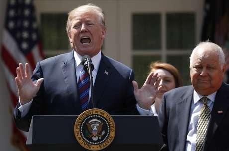 Trump faz discurso na Casa Branca  12/4/2018  REUTERS/Kevin Lamarque