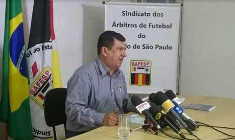 Presidente do Sindicato dos Árbitros de Futebol do Estado de São Paulo (SAFESP), Arthur Alves Júnior (Foto: Guilherme Amaro)