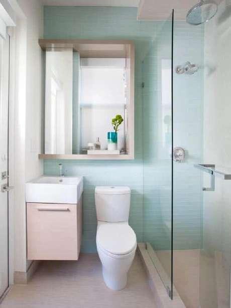 35. Modelo de banheiro simples e pequeno