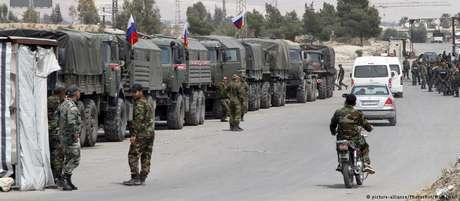 Tropas russas ajudam Assad na ocupação de Duma, um dos últimos redutos rebeldes na Síria